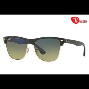 Ray Ban CLUBMASTER OVERSIZED Sunglasses with case!